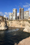 贝鲁特海岸线黎巴嫩 免版税库存照片