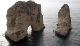 贝鲁特海岸s 库存照片