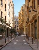 贝鲁特街市金黄黎巴嫩街道 免版税库存照片