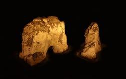 贝鲁特黎巴嫩鸽子岩石 免版税库存图片