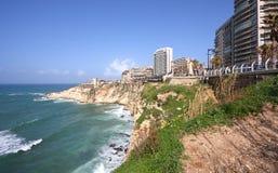 贝鲁特corniche黎巴嫩散步 库存照片