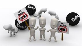 负债更多没有 免版税库存图片