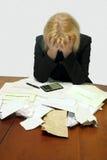 负债绝望 免版税库存图片