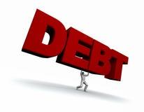 负债lifing的人字 库存例证