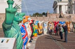 负担伙计陈列芬兰团结的赫尔辛基 免版税图库摄影