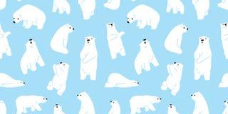 负担无缝的北极熊传染媒介样式女用连杉衬裤象字符动画片乱画例证瓦片背景墙纸 向量例证