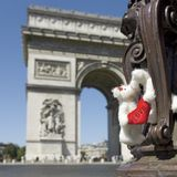 负担法国爱巴黎 免版税图库摄影