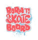负担滑冰板, T恤杉图表,传染媒介 免版税库存图片