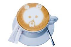 负担热奶咖啡italiano 免版税图库摄影