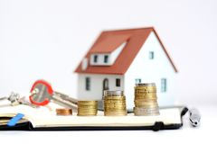 财产价值或房地产销售演变 库存照片