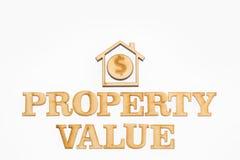 财产价值-概念 顶视图 免版税图库摄影