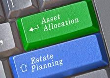 财产分派和财产分配的钥匙 图库摄影