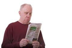 财务人老读取部分 免版税库存照片