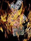 财务启示的危机 免版税库存图片