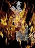 财务启示的危机 免版税库存照片