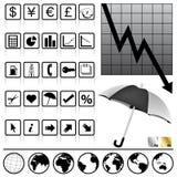 财务图标 库存图片