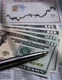 财务图表的货币我们 免版税库存图片