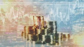 财务成长和Infographics 向量例证