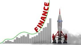 财务成长图表  向量例证
