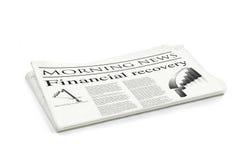 财务报纸恢复 库存图片