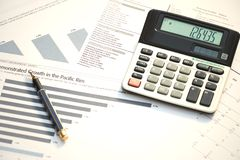 财务报表 免版税库存图片