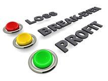 财务指示符 库存例证