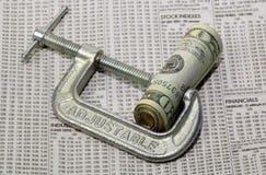 财务挤压 免版税图库摄影