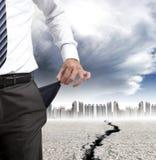 财务概念的危机 免版税库存图片