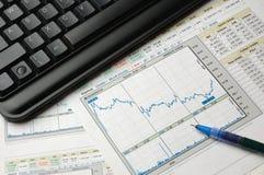 财务的分析 免版税库存照片