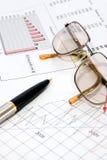 财务的分析 库存图片