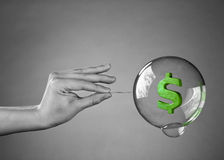 财务的危机 免版税库存图片