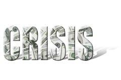 财务的危机 免版税库存照片