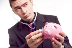 财务的诊断 库存照片