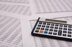 财务的caculator 免版税库存图片