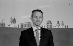 财务的KRISTIAN JENSEN_DANISH部长 免版税库存照片