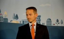 财务的KRISTIAN JENSEN_DANISH部长 免版税库存图片