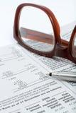 财务笔语句 免版税库存图片