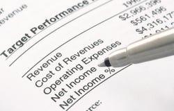 财务笔语句 免版税库存照片
