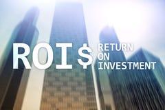 财务管理收支概念的回收投资 虚屏背景 免版税库存图片
