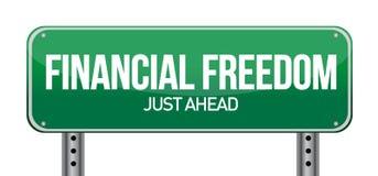 财务自由路牌 库存图片