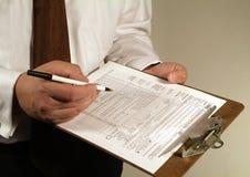 财务表单文书工作税务 免版税库存图片