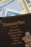财务计划 库存照片