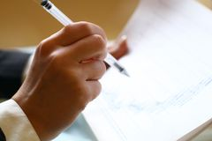 财务读的报表 免版税库存图片
