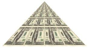 财务金字塔 库存图片