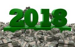 2018财富和成功 库存照片
