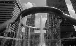 财富喷泉在新加坡 库存照片