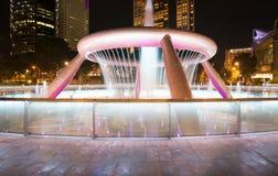 财富喷泉是最大和最高的喷泉在Suntec塔在新加坡 免版税库存照片