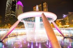 财富喷泉是最大和最高的喷泉在Suntec塔在新加坡 图库摄影