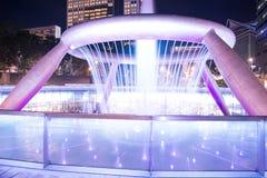 财富喷泉是最大和最高的喷泉在Suntec塔在新加坡 免版税库存图片