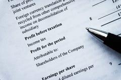 财政企业规划,平衡投资总额 库存图片